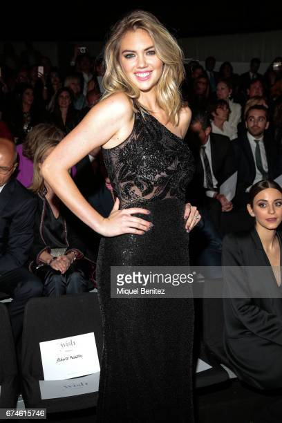 Kate Upton attends the Pronovias Show during Barcelona Bridal Fashion Week 2017 held at the Museu Nacional d'Art de Catalunya on April 28 2017 in...