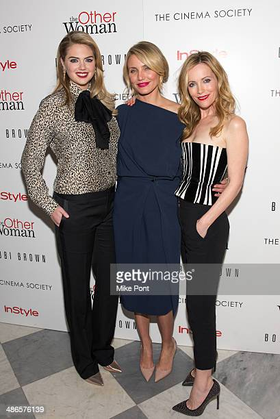 Kate Upton Cameron Diaz and Leslie Mann attend The Cinema Society Bobbi Brown with InStyle screening of 'The Other Woman' at The Paley Center for...