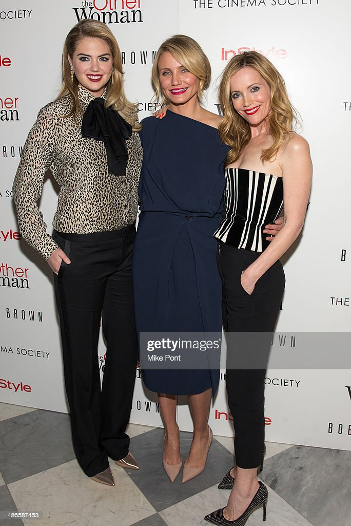 Kate Upton, Cameron Diaz, and Leslie Mann attend The Cinema Society & Bobbi Brown with InStyle screening of 'The Other Woman' at The Paley Center for Media on April 24, 2014 in New York City.