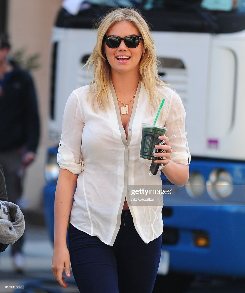 Kate Upton is seen in Tribeca on May 2, 2013 in New York City.