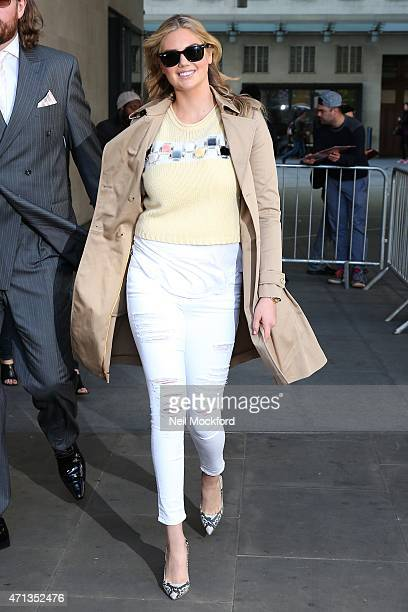 Kate Upton seen at BBC Radio One on April 27 2015 in London England