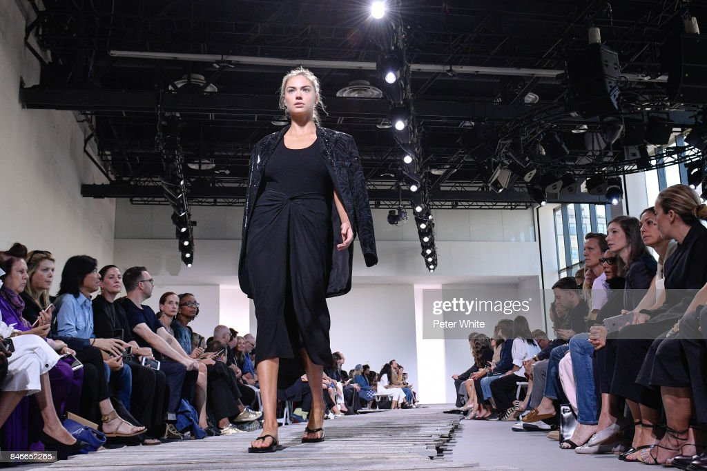 Kate Upton walks the runway at the Michael Kors Ready to Wear Spring/Summer 2018 fashion show during New York Fashion Week at Spring Studios on September 13, 2017 in New York City.