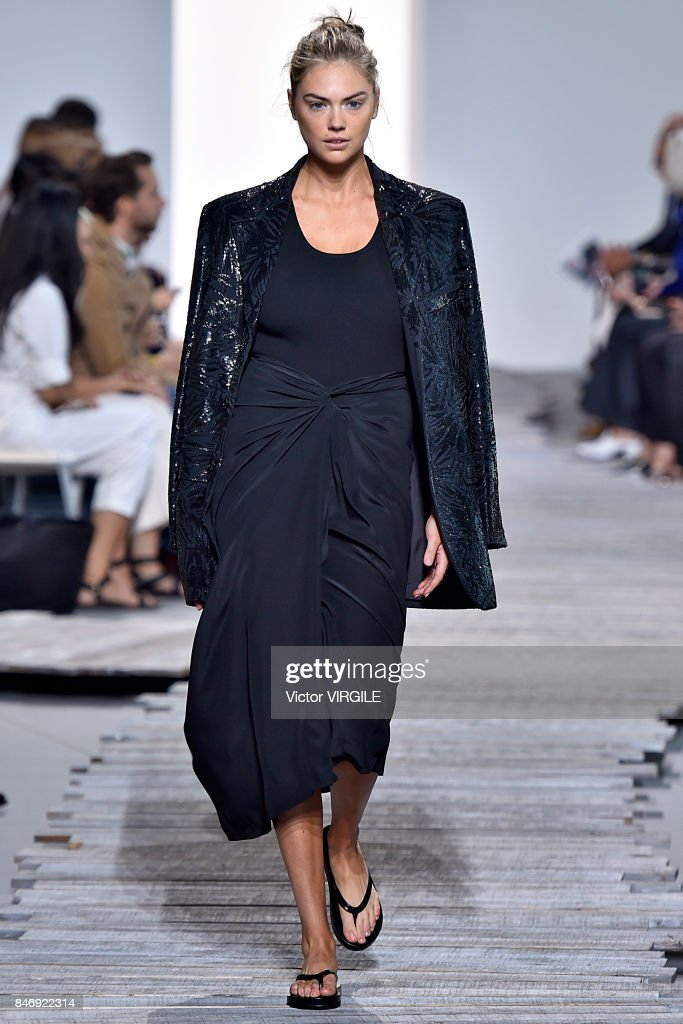 Kate Upton walks the runway at the Michael Kors Ready to Wear Spring/Summer 2018 fashion show during New York Fashion Week on September 13, 2017 in New York City.