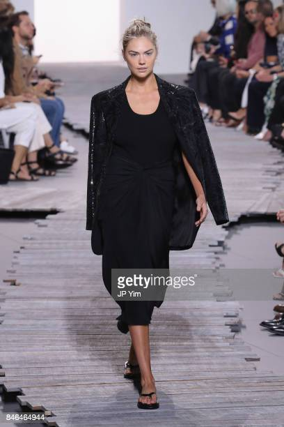 Kate Upton walks the runway for Michael Kors Collection Spring 2018 Runway Show at Spring Studios on September 13 2017 in New York City