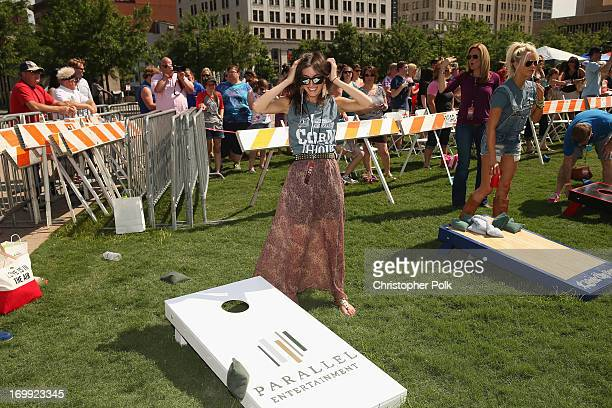 Kate Voegele attends the Craig Campbell 2013 Celebrity Cornhole Challenge at Public Square on June 4 2013 in Nashville Tennessee