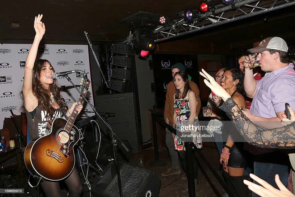 <a gi-track='captionPersonalityLinkClicked' href=/galleries/search?phrase=Kate+Voegele&family=editorial&specificpeople=4810119 ng-click='$event.stopPropagation()'>Kate Voegele</a> performs at the Lil Jon Birthday Party at Downstairs Bar on January 17, 2013 in Park City, Utah.