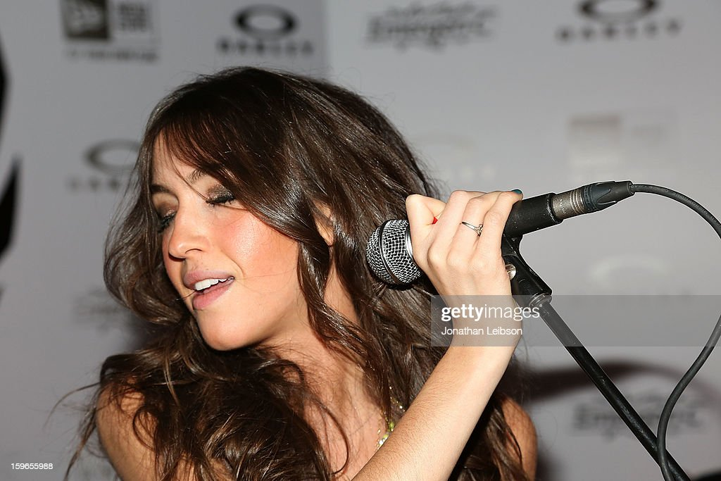 Kate Voegele performs at the Lil Jon Birthday Party at Downstairs Bar on January 17, 2013 in Park City, Utah.