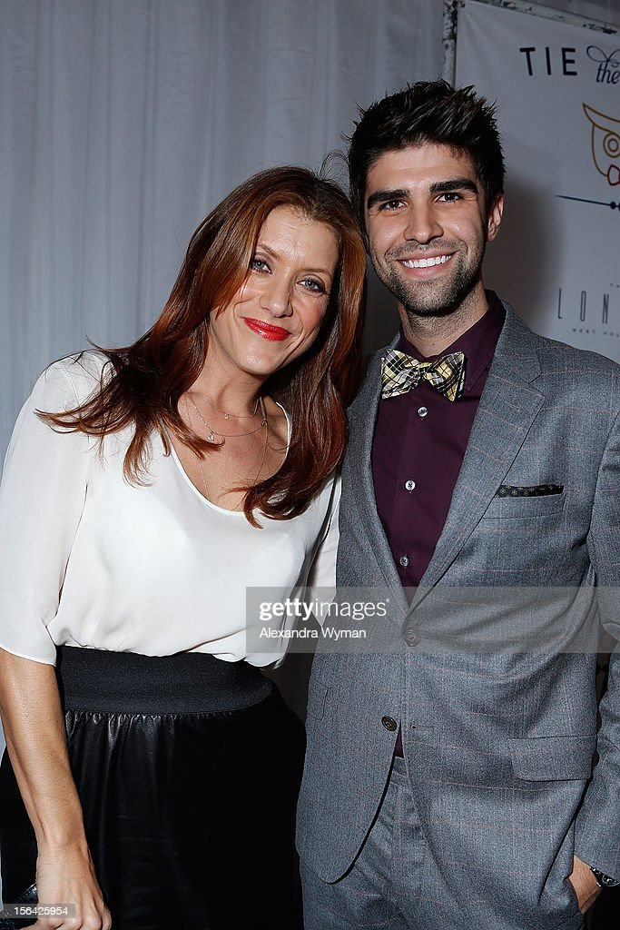 Kate Walsh and Justin Mikita at the launch of Tie The Knot, a charity benefitting marriage equality through the sale of limited edition bowties available online at TheTieBar.com/JTF held at The London West Hollywood on November 14, 2012 in West Hollywood, California.