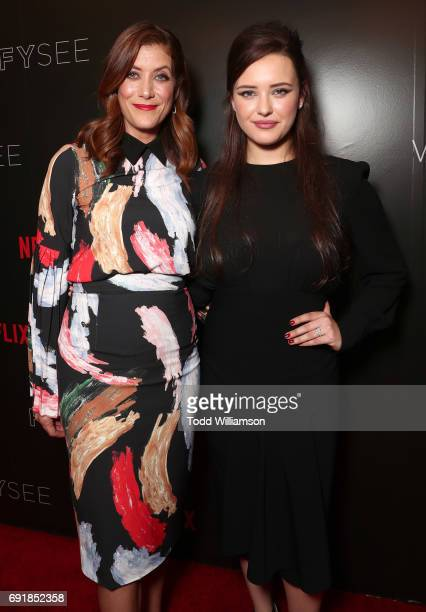 Kate Walsh and Katherine Langford attend the Netflix's '13 Reasons Why' FYC Event at Netflix FYSee Space on June 2 2017 in Beverly Hills California