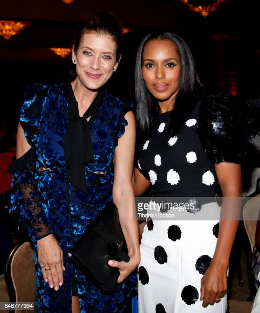 Kate Walsh and Kerry Washington attend the 6th Annual Women Making History Awards at The Beverly Hilton Hotel on September 16 2017 in Beverly Hills...