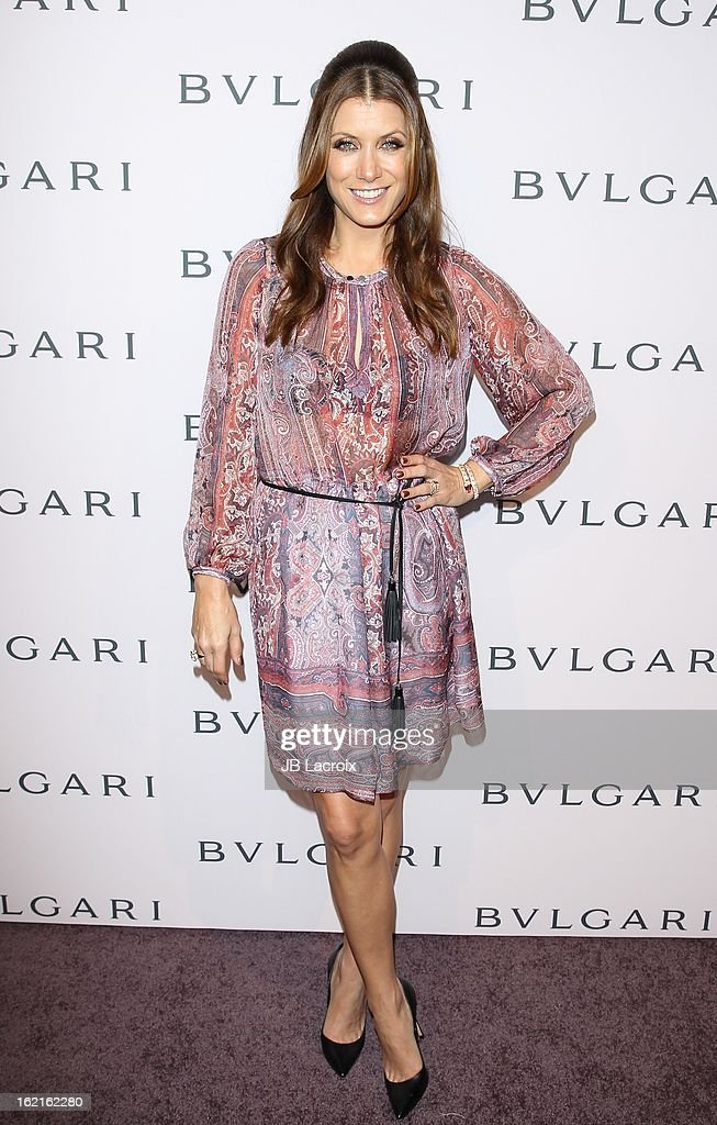 Kate Walsh attends the BVLGARI celebration of Elizabeth Taylor's collection of BVLGARI jewelry at Bvlgari Beverly Hills on February 19, 2013 in Beverly Hills, California.