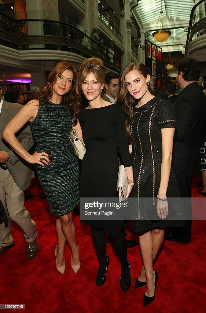 Kate Walsh, ELLE magazine editor-in-chief Robbie Myers and Allison Williams attend a celebration for leading women in Washington hosted by GOOGLE, ELLE, and The Center for American Progress on January 20, 2013 in Washington, United States.