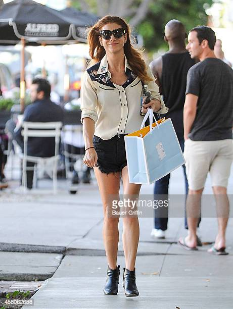 Kate Walsh is seen in Los Angeles on October 29 2014 in Los Angeles California