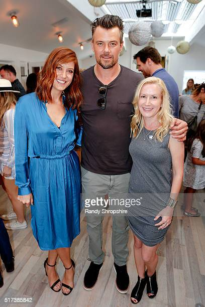 Kate Walsh Josh Duhamel and Angela Kinsey attend the partnership celebration between TOMS and Oceana to help save the sea turtles on March 24 2016 at...