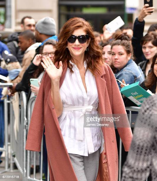 Kate Walsh leaves AOL Build at BUILD Studio on April 24 2017 in New York City