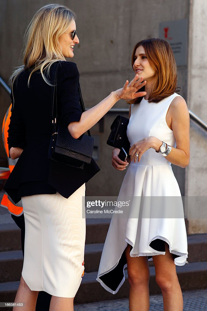 Kate Waterhouse and Candice Lake seen at Mercedes-Benz Fashion Week Australia Spring/Summer 2013/14 at Carriageworks on April 12, 2013 in Sydney, Australia.