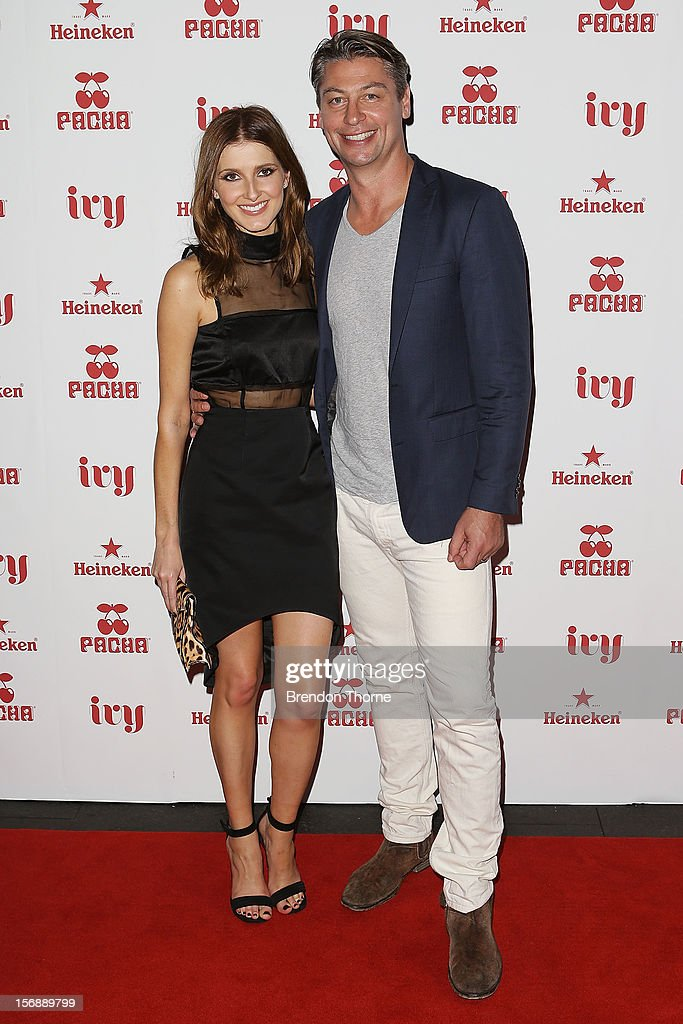 Kate Waterhouse and Luke Ricketson arrives at the Pacha Launch at the Ivy on November 24, 2012 in Sydney, Australia.
