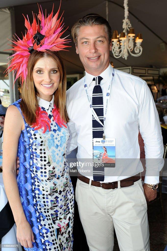 Kate Waterhouse and Luke Ricketson attend Magic Millions Raceday at Gold Coast Turf Club on January 12, 2013 on the Gold Coast, Australia.