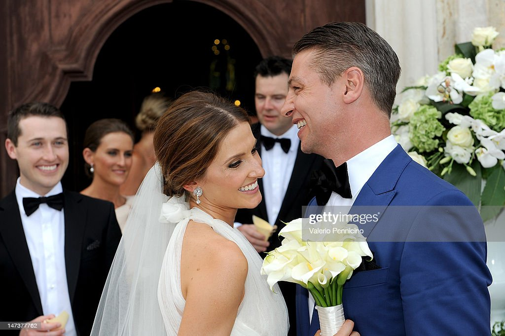 Kate Waterhouse and Luke Ricketson attend their wedding on June 28, 2012 in Taormina, Italy.