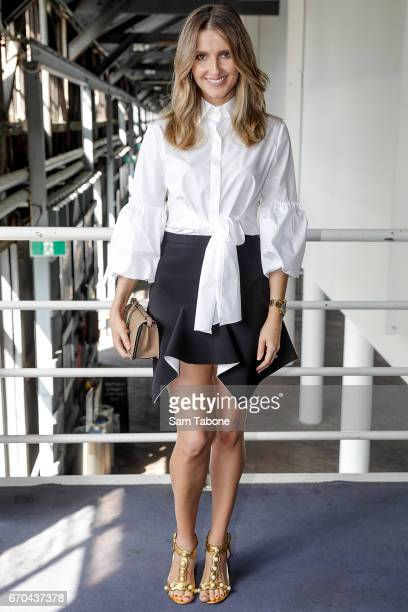 Kate Waterhouse arrives ahead of the Carla Zampatti Spring Summer 2017 Show at Sydney Theatre Company on April 20 2017 in Sydney Australia