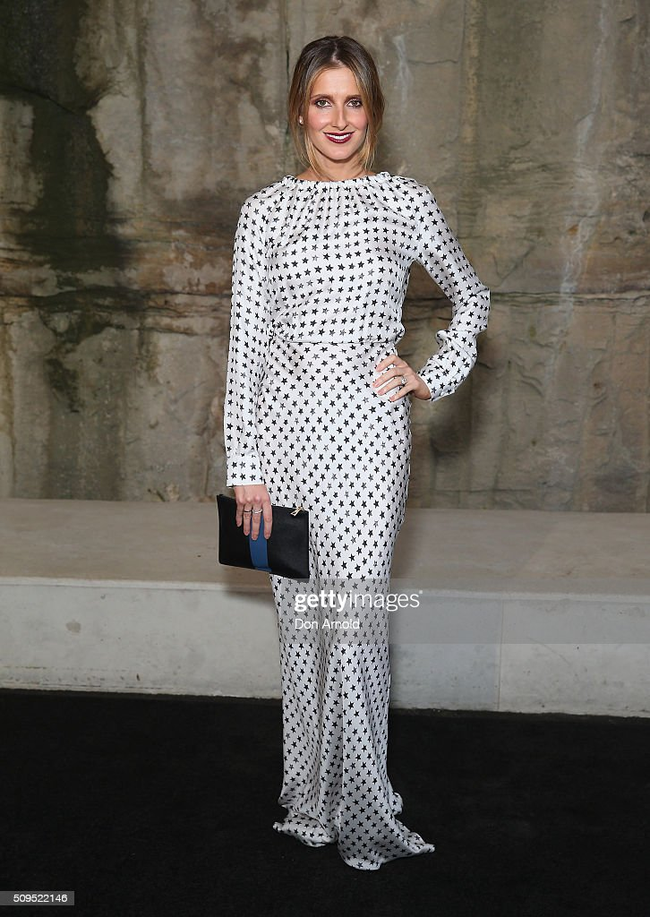 <a gi-track='captionPersonalityLinkClicked' href=/galleries/search?phrase=Kate+Waterhouse&family=editorial&specificpeople=208104 ng-click='$event.stopPropagation()'>Kate Waterhouse</a> arrives ahead of the Myer AW16 Fashion Launch at Barangaroo Reserve on February 11, 2016 in Sydney, Australia.