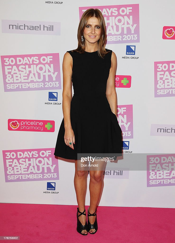 <a gi-track='captionPersonalityLinkClicked' href=/galleries/search?phrase=Kate+Waterhouse&family=editorial&specificpeople=208104 ng-click='$event.stopPropagation()'>Kate Waterhouse</a> arrives at the 30 Days of Fashion and Beauty launch party at Town Hall on August 28, 2013 in Sydney, Australia.