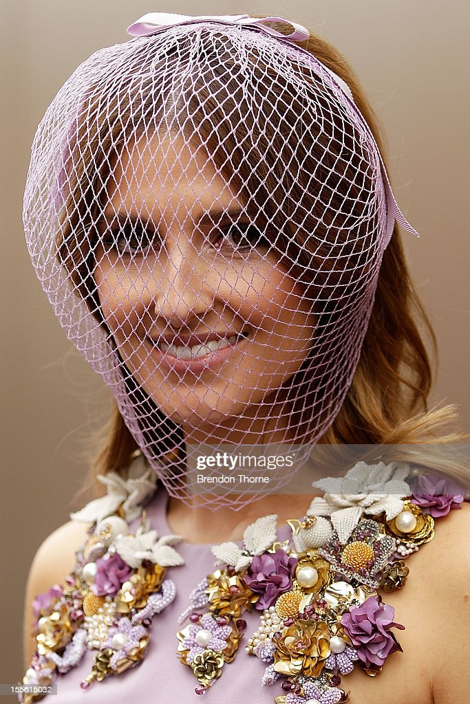 Kate Waterhouse arrives at the Melbourne Cup at Flemington Racecourse on November 6, 2012 in Melbourne, Australia.