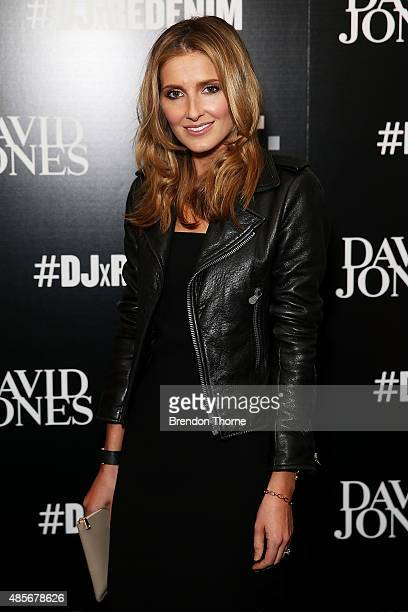 Kate Waterhouse arrives at the 'RE Denim For David Jones' launch party at St James Station on August 29 2015 in Sydney Australia