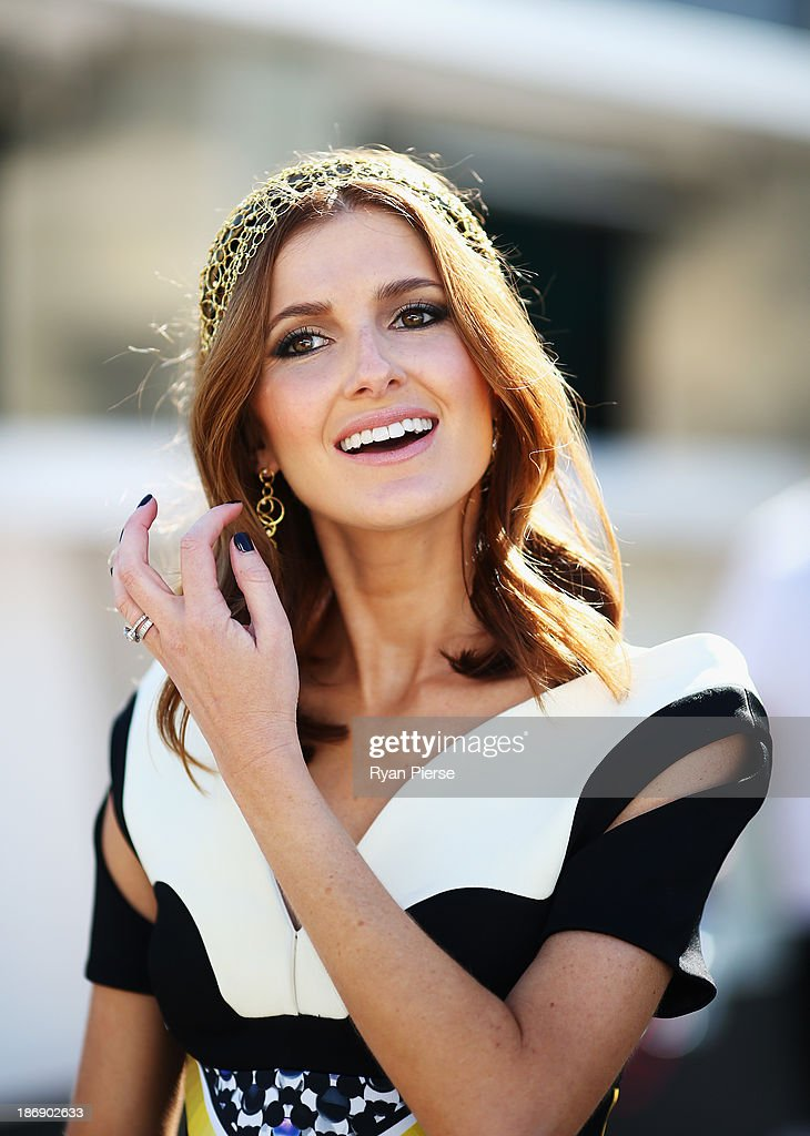 Kate Waterhouse arrives during Melbourne Cup Day at Flemington Racecourse on November 5, 2013 in Melbourne, Australia.