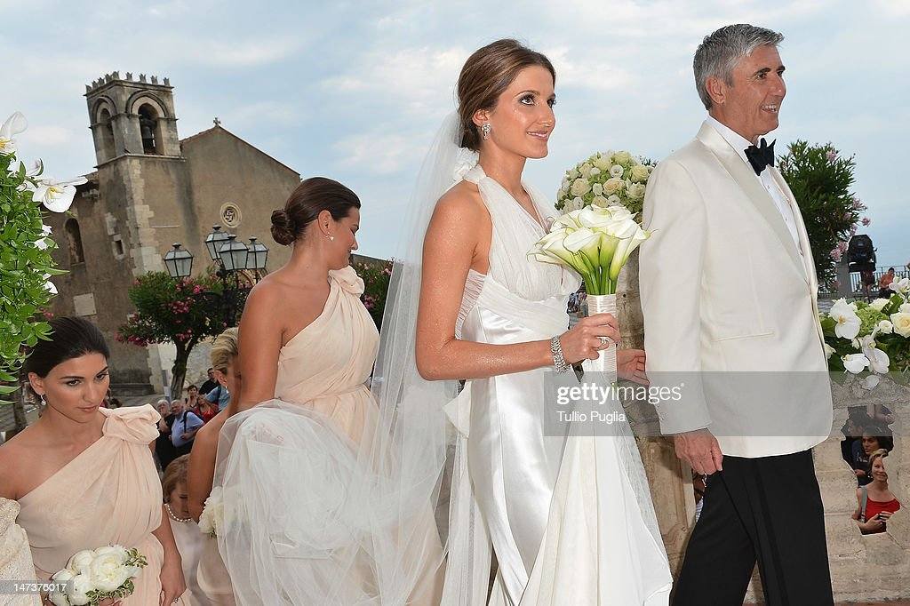 Kate Waterhouse attends her wedding to Luke Ricketson on June 28, 2012 in Taormina, Italy.
