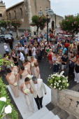 Kate Waterhouse attends her wedding to Luke Ricketson on June 28 2012 in Taormina Italy