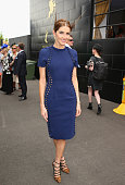 Kate Waterhouse attends on Melbourne Cup Day at Flemington Racecourse on November 4 2014 in Melbourne Australia