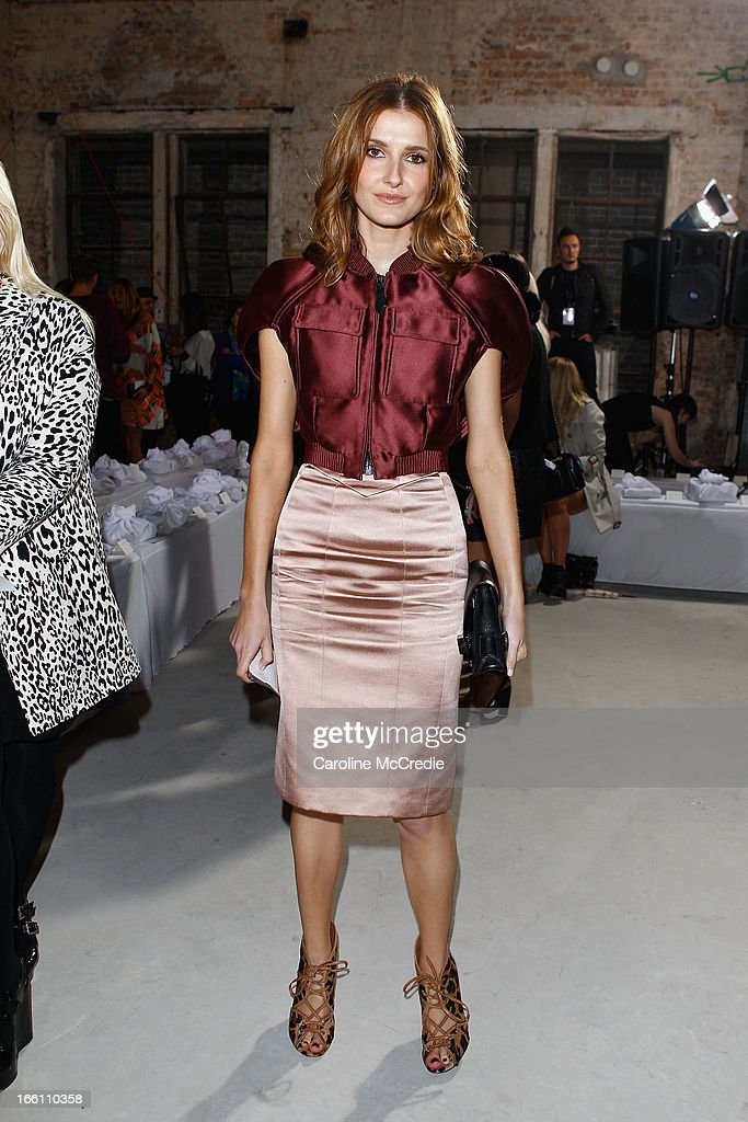 Kate Waterhouse attends the Ellery show during Mercedes-Benz Fashion Week Australia Spring/Summer 2013/14 at an offsite venue on April 9, 2013 in Sydney, Australia.