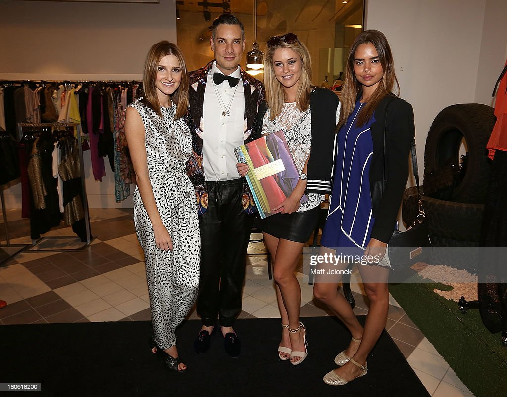Kate Waterhouse, Cameron Silver, Scherri-Lee Biggs and Samantha Harris attend the launch of Cameron Silver's book 'Decades: A Century of Fashion' during Perth Fashion Festival on September 15, 2013 in Perth, Australia.