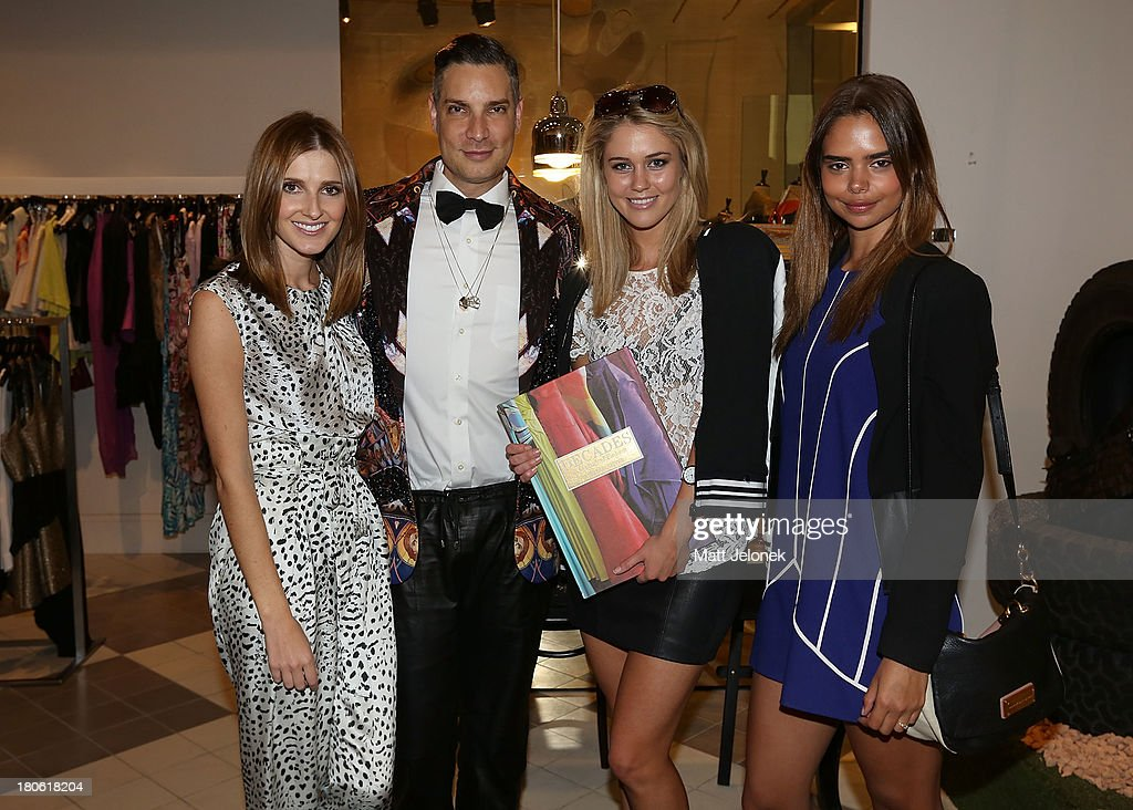 <a gi-track='captionPersonalityLinkClicked' href=/galleries/search?phrase=Kate+Waterhouse&family=editorial&specificpeople=208104 ng-click='$event.stopPropagation()'>Kate Waterhouse</a>, <a gi-track='captionPersonalityLinkClicked' href=/galleries/search?phrase=Cameron+Silver&family=editorial&specificpeople=546426 ng-click='$event.stopPropagation()'>Cameron Silver</a>, <a gi-track='captionPersonalityLinkClicked' href=/galleries/search?phrase=Scherri-Lee+Biggs&family=editorial&specificpeople=7921585 ng-click='$event.stopPropagation()'>Scherri-Lee Biggs</a> and Samantha Harris attend the launch of <a gi-track='captionPersonalityLinkClicked' href=/galleries/search?phrase=Cameron+Silver&family=editorial&specificpeople=546426 ng-click='$event.stopPropagation()'>Cameron Silver</a>'s book 'Decades: A Century of Fashion' during Perth Fashion Festival on September 15, 2013 in Perth, Australia.