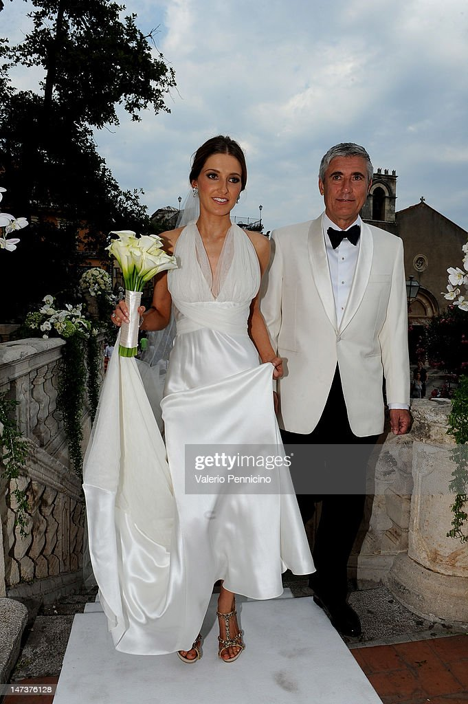 Kate Waterhouse her wedding to Luke Ricketson on June 28, 2012 in Taormina, Italy.