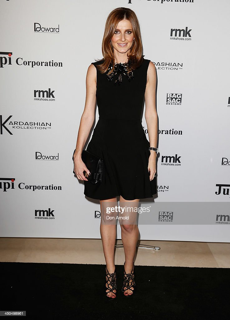 <a gi-track='captionPersonalityLinkClicked' href=/galleries/search?phrase=Kate+Waterhouse&family=editorial&specificpeople=208104 ng-click='$event.stopPropagation()'>Kate Waterhouse</a> poses at the Kardashian Kollection cocktail party at the Park Hyatt Guest House on November 19, 2013 in Sydney, Australia.