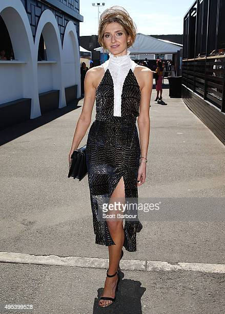 Kate Waterhouse poses at the Lexus Marquee on Melbourne Cup Day at Flemington Racecourse on November 3 2015 in Melbourne Australia