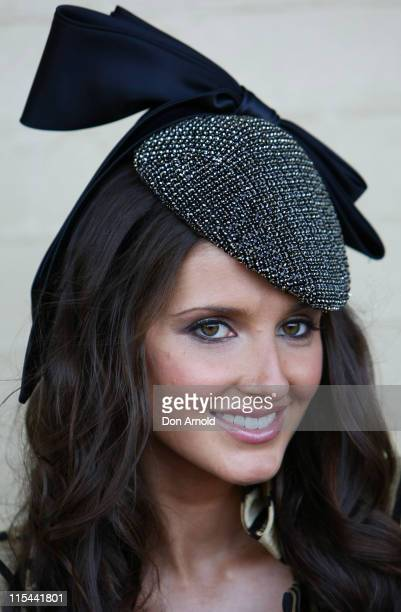 Kate Waterhouse poses during celebrations for Gai Waterhouse's 'Mad Hatters' Birthday Party at Royal Randwick Racecourse on September 2 2009 in...