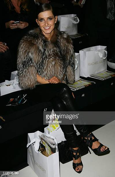 Kate Waterhouse sits front row during the Spring/Summer Rachel Gilbert catwalk show 2011/12 at the Overseas Passenger Terminal on May 3 2011 in...