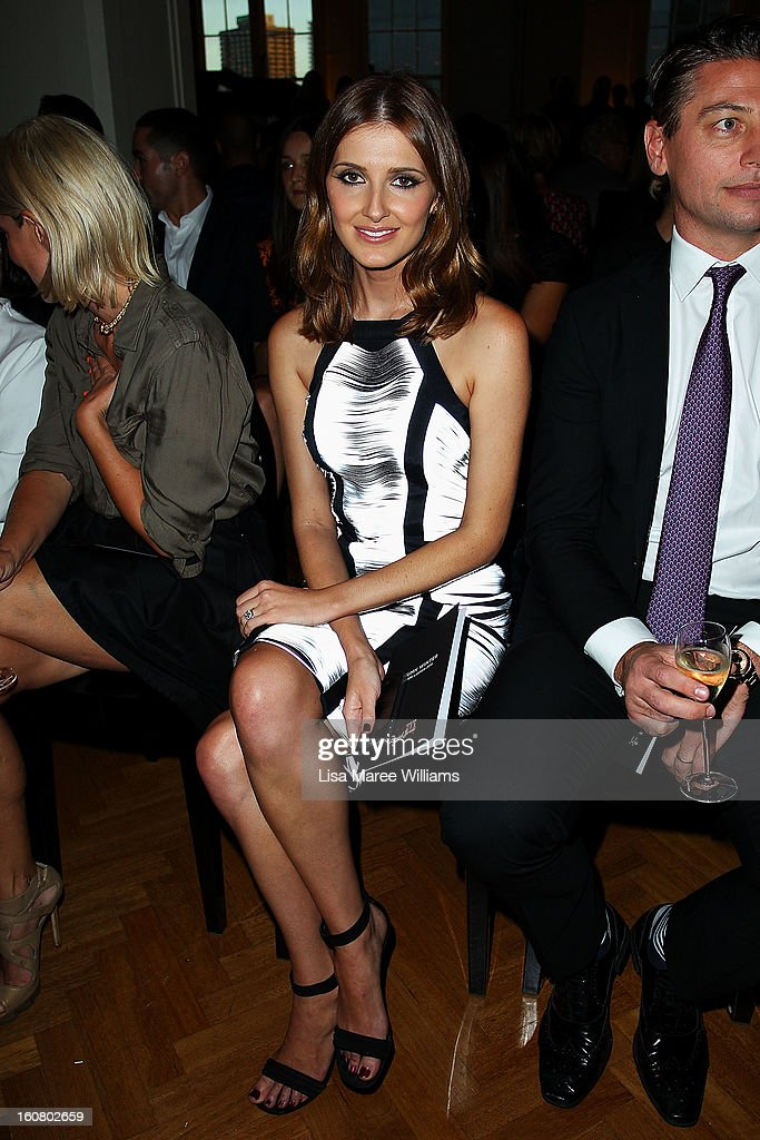Kate Waterhouse sits in the front row at the David Jones A/W 2013 Season Launch at David Jones Castlereagh Street on February 6, 2013 in Sydney, Australia.