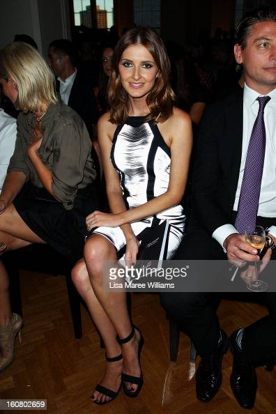Kate Waterhouse sits in the front row at the David Jones A/W 2013 Season Launch at David Jones Castlereagh Street on February 6 2013 in Sydney...