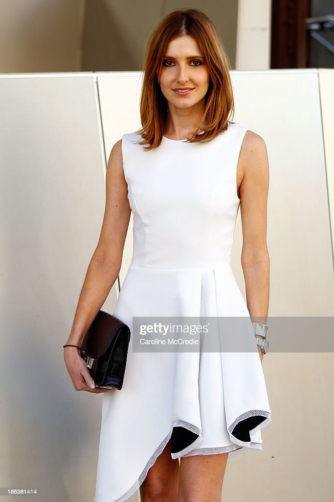 Kate Waterhouse wears an outfit by Camilla and Marc at Mercedes-Benz Fashion Week Australia Spring/Summer 2013/14 at Carriageworks on April 12, 2013 in Sydney, Australia.