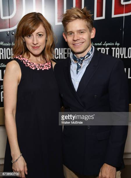 Kate Wetherhead and Andrew Keenan Bolger attend the Broadway Opening Night performance of 'Bandstand' at the Bernard B Jacobs Theatre on 4/26/2017 in...