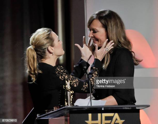 Kate Winslet and Allison Janney attend the 21st annual Hollywood Film Awards at The Beverly Hilton Hotel on November 5 2017 in Beverly Hills...
