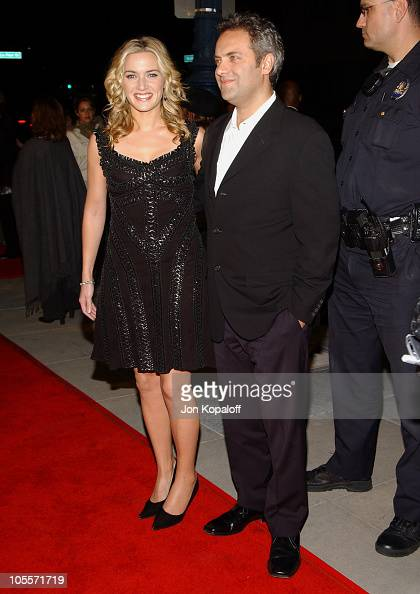 Kate Winslet and husband Sam Mendes during 'Finding Neverland' Los Angeles Premiere Arrivals at The Academy of Motion Picture Arts and Sciences in...