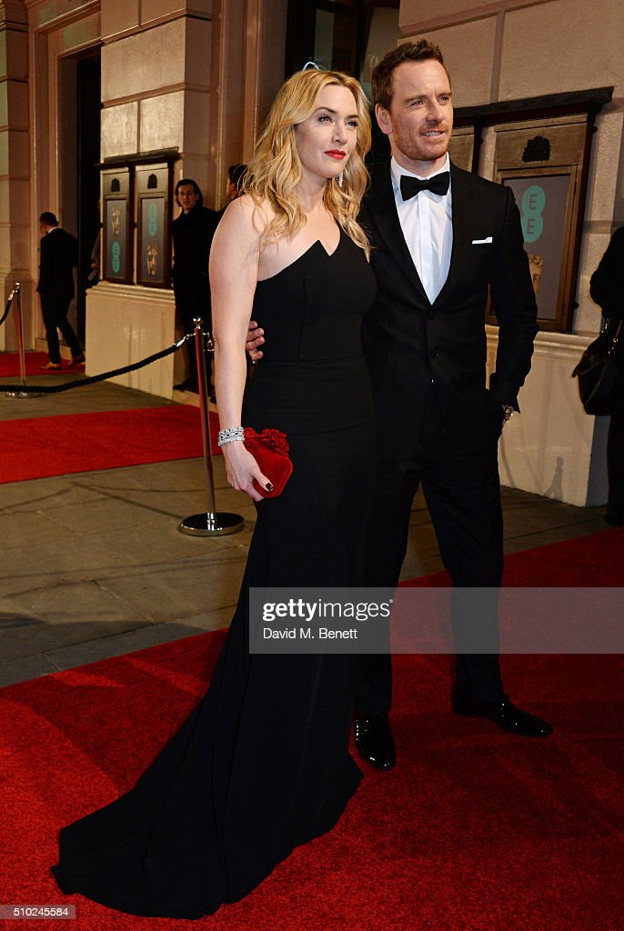 <a gi-track='captionPersonalityLinkClicked' href=/galleries/search?phrase=Kate+Winslet&family=editorial&specificpeople=201923 ng-click='$event.stopPropagation()'>Kate Winslet</a> (L) and <a gi-track='captionPersonalityLinkClicked' href=/galleries/search?phrase=Michael+Fassbender&family=editorial&specificpeople=4157925 ng-click='$event.stopPropagation()'>Michael Fassbender</a> attend the EE British Academy Film Awards at The Royal Opera House on February 14, 2016 in London, England.