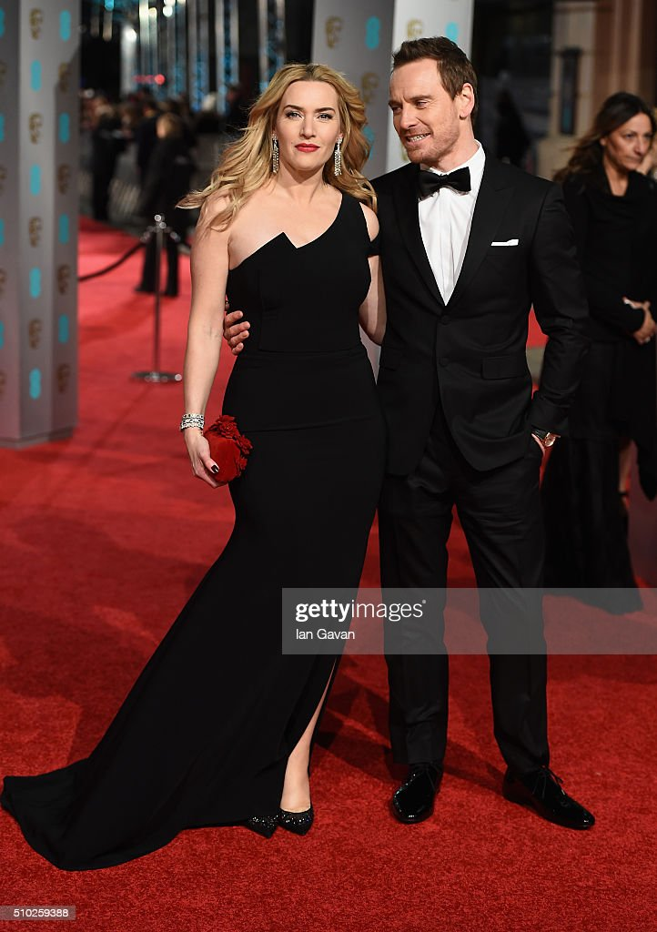 <a gi-track='captionPersonalityLinkClicked' href=/galleries/search?phrase=Kate+Winslet&family=editorial&specificpeople=201923 ng-click='$event.stopPropagation()'>Kate Winslet</a> and <a gi-track='captionPersonalityLinkClicked' href=/galleries/search?phrase=Michael+Fassbender&family=editorial&specificpeople=4157925 ng-click='$event.stopPropagation()'>Michael Fassbender</a> attend the EE British Academy Film Awards at the Royal Opera House on February 14, 2016 in London, England.
