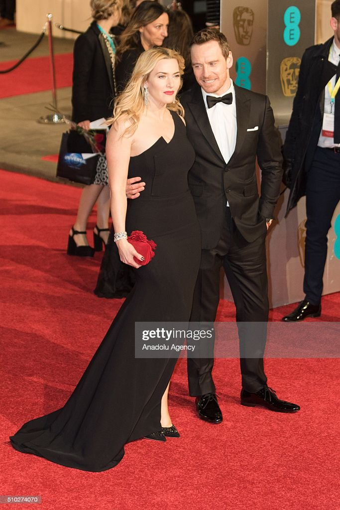Kate Winslet and Michael Fassbender attend the EE British Academy Film Awards at The Royal Opera House on February 14, 2016 in London, England.