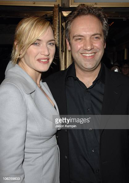 Kate Winslet and Sam Mendes during 'The Vertical Hour' New York Premiere November 30 2006 at The Music Box Theatre in New York City New York United...